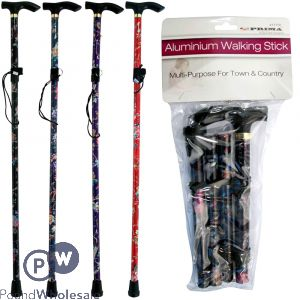 PRIMA ALUMINIUM WALKING STICKS ASSORTED DESIGNS