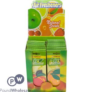 CAR AIR FRESHENERS FRUIT ASSORTED CDU