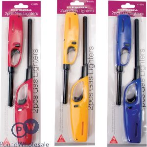 PRIMA BBQ GAS LIGHTER ASSORTED COLOURS 2PC