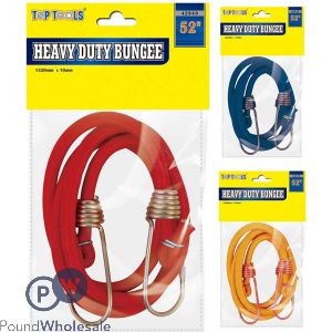 """TOP TOOLS 52"""" HEAVY DUTY BUNGEE ASSORTED COLOURS"""