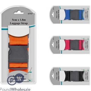 LUGGAGE STRAP 5CM X 1.8M 4 ASSORTED COLOURS