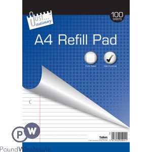 JUST STATIONERY A4 REFILL PAD 100 SHEETS