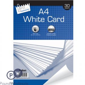 JUST STATIONERY A4 WHITE 150GSM PRINTING CARD 30 SHEETS