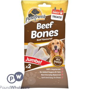 PURE BREED BEEF BONES JUMBO 2 PACK
