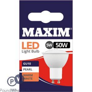 MAXIM GU10 LED 5W = 50W WARM WHITE LED BULBS