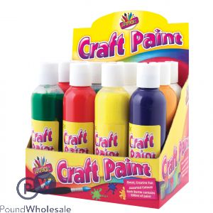 ARTBOX CRAFT FINGER PAINTS 200ML ASSORTED COLOURS CDU