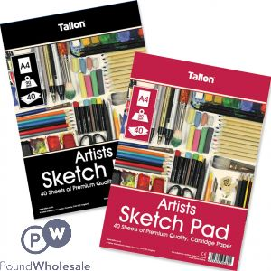 A4 ARTISTS SKETCH PAD 40 SHEET ASSORTED