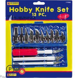 13pc HOBBY KNIFE SET