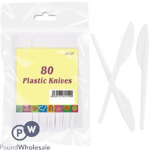 PLASTIC KNIVES 80 PACK