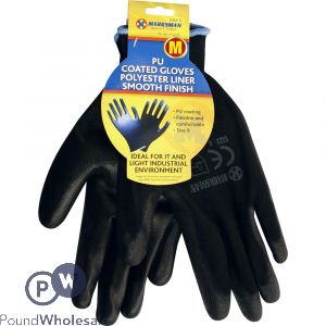MARKSMAN PU COATED WORK GLOVES MEDIUM