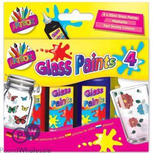 ARTBOX GLASS PAINTS 4 X 22ML