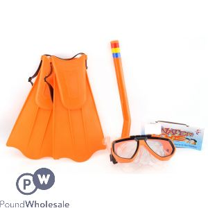KIDS SNORKELING & DIVING SET WITH FLIPPERS