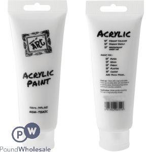 WHITE ACRYLIC PAINT 120ML
