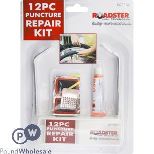 ROADSTER PUNCTURE REPAIR KIT 12PC