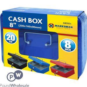 """MARKSMAN CASH BOX 8"""" ASSORTED COLOURS"""