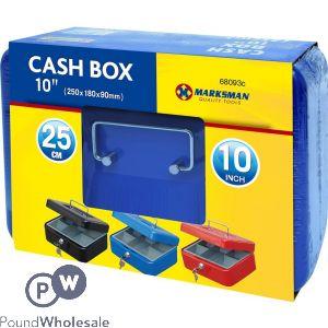 """MARKSMAN CASH BOX 10"""" ASSORTED COLOURS"""