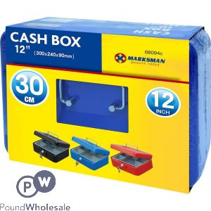 "MARKSMAN CASH BOX 12"" ASSORTED COLOURS"
