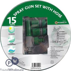 "MARKSMAN 15M 1/2"" & 3/4"" PVC SPRAY GUN SET WITH HOSE"