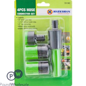 MARKSMAN HOSE CONNECTOR SET 4PCS