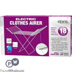 ELPINE ELECTRIC CLOTHES AIRER 18 RAILS