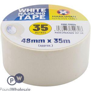 MARKSMAN WHITE MASKING TAPE 48MM X 35M