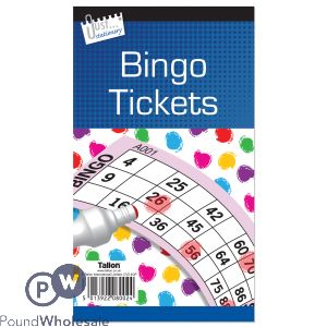 JUST STATIONERY JUMBO BINGO TICKETS