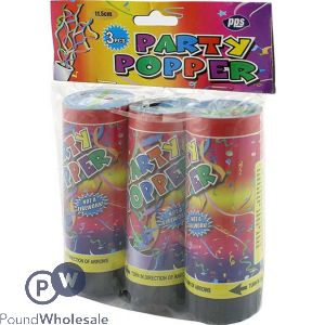 PARTY POPPER 11.5CM 3 PACK