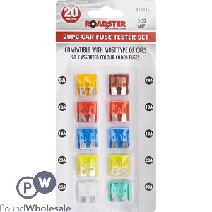 ROADSTER 5AMP-30AMP CAR FUSES ASSORTED 20PC