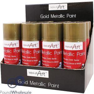 WORK OF ART GOLD METALLIC SPRAY PAINT 110ML CDU