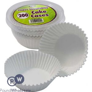 BAKING CAKE CASES WHITE 200 PIECES