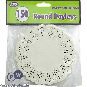 ROUND DOYLEYS 11.5CM 150 PACK