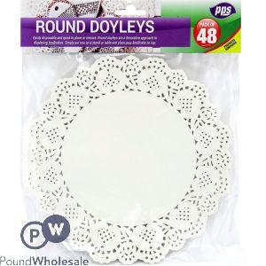 ROUND DOYLEYS 21CM 48 PACK