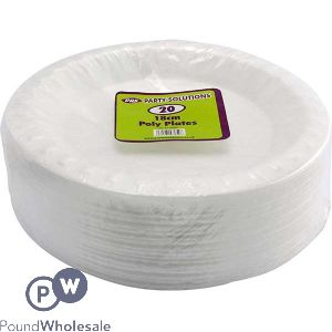 POLY PLATES 18CM 18 PACK