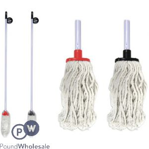 FLOOR MOP & HANDLE 2 ASSORTED COLOURS