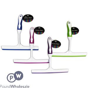 WINDOW WIPER WITH RUBBER 4 ASSORTED COLOURS