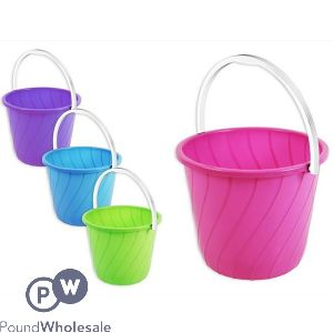 BUCKET WITH HANDLE 7L 4 ASSORTED COLOURS