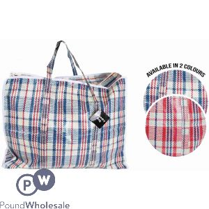 ROYALE HOME SHOPPING BAG WITH ZIP 2 COLOURS