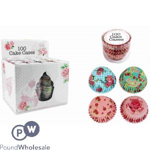 CAKE CASES ASSORTED DESIGNS 100 PACK