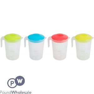 BELLO PITCHER WITH LID 2L 4 ASSORTED COLOURS