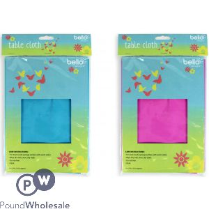 BELLO DISPOSABLE TABLE CLOTH 2 ASSORTED COLOURS