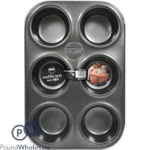 NON STICK DEEP MUFFIN TRAY 6 CUP