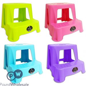 KIDS STEP-STOOL 4 ASSORTED COLOURS
