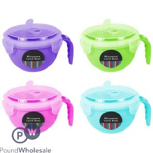 MICROWAVE LUNCH BOWL WITH LID 4 COLOURS