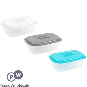 COOKHOUSE RECTANGULAR FOOD STORAGE BOXES 3 ASSORTED 3L