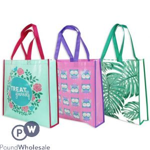 SHOPPING TOTE BAG 3 ASSORTED DESIGNS