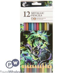 CHILTERN ARTS METALLIC PENCILS 12 PACK