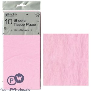 GIFTMAKER TISSUE PAPER PINK 10 SHEETS