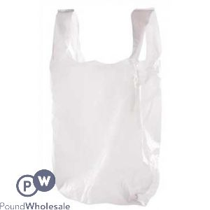 WHITE CARRIER BAGS LARGE SIZE 1000PCS PER BOX