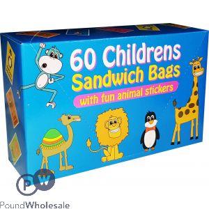 60 CHILDRENS SANDWICH BAGS CDU