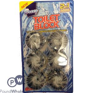 BREEZ 2-IN-1 TOILET BLOCK 6 PACK
